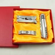瑞士多功能刀具 户外刀具随身小刀 时尚礼品军刀三件套