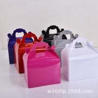 供应国产高级PVC盒  新款纯色包装喜糖盒 厂家定制批发