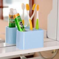 新款牙膏牙刷架 卫浴套装刷牙杯漱口杯 促销可拆洗塑料牙具架定制LOGO