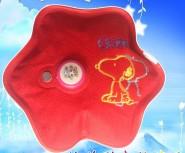 梅花形绒布秀花热水袋|暖手宝|电暖袋|电暖宝|电热水袋