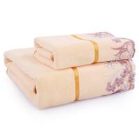 浴巾 套装1毛巾+1浴巾 加大 加厚 男女情侣 宾馆酒店 吸水浴巾