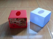 定制方形广告纸巾筒/PP纸筒/塑料筒/餐巾筒/纸巾抽/纸巾桶