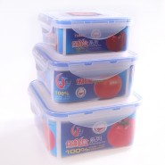 供应保鲜收纳盒三件套、恬妞密封盒3件套 食品盒微波盒 收纳盒