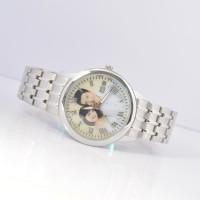 经典男士实心钢带 凸面玻璃手表定制 送男友礼品定做 背面刻字