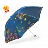 广告伞定做 正品天堂伞3308E变色闪光黑胶布三折伞 闪银新风防紫外线