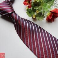 男士正装商务领带桑蚕丝真丝领带暗红条纹可批发定制logo
