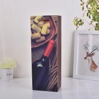 厂家直销供应新款 创意白卡酒袋 高档白卡纸红酒包装袋子