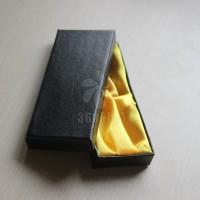 产品包装盒 黑色高档黄布盒子 高档礼品盒 饰品包装盒 6004