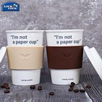 乐扣乐扣水杯陶瓷杯 学生创意糖果色带盖茶杯牛奶杯咖啡杯马克杯