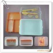 批发保温饭盒 塑料饭盒 广告饭盒 方形餐盒 礼品饭盒定制 印LOGO