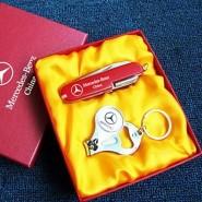 瑞士多功能户外刀具随身小刀 瑞士红色胶片11开+锁匙扣指甲钳套装