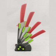 厨房刀具用品套装不锈钢刀具套装 3+4+5+6+扁刨+刀座彩盒陶瓷套刀