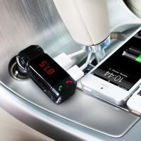 汽车载MP3播放器FM发射器 蓝牙免提 点烟器车充 U盘式音乐插卡机