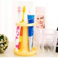 花杯架 新款牙刷架牙杯  塑料牙具套装  洗漱杯 浴室用品定做定制