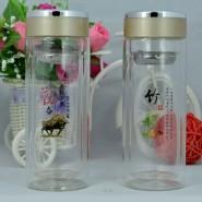 精品水晶杯双层玻璃杯创意水杯批发定做广告杯子礼品杯印字logo杯