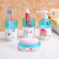 浴室四件套,卫浴四件套,洗浴套装,浴室套件 牙刷架 定制企业logo