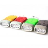 三灯环保手压电筒 3led强光手压电筒 手捏电筒 手压自发电电筒
