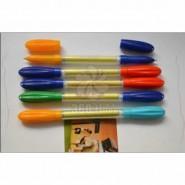 2015热销 厂家直销 订制拉画笔2头圆珠笔芯拉画笔 印刷 礼品批发