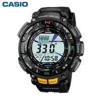 CASIO卡西欧登山 PRG-240-1PR 正品户外太阳能男士手表电子表