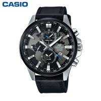 CASIO 卡西欧手表男士防水真皮休闲商务石英表 EFR-303D/303L