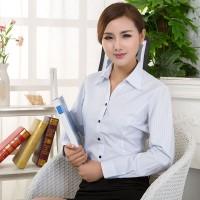 秋装工装衬衫女装工作服短袖职业装女士衬衣OL正装大码寸衫长袖棉