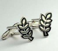 定制厂家定制 镀银树叶袖扣袖钉叶子造型袖口扣法式衬衫袖口袖钉