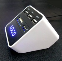读卡器 分线器 集线器 HUB 7合一 实用商务办公礼品定制 印刷LOGO