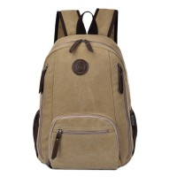 新款大容量可放14寸电脑纯棉双肩包学生书包旅行包可定做LOGO
