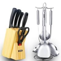 苏泊尔厨房刀具套装组合 全套厨房用具 不锈钢锅铲勺炊具 家用菜刀具批发