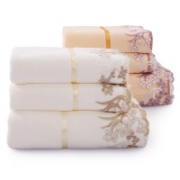 毛巾 浴巾 套装 三件套 高梳纱不掉毛 吸水 礼品 情侣 可配 礼盒