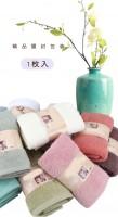 中高档外贸出口素缎毛巾日单纯棉吸水礼品精装面巾环保12色单条装