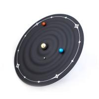 概念太阳系行星磁力时钟 Galaxy Magnetic Clock创意卧室艺术挂钟