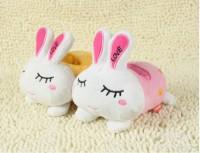 LOVE兔子 创意手机座  毛绒玩具 婚庆礼品 可印logo