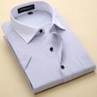 定制    男女士短袖白衬衫工作服定做商务职业工装纯色衬衣定制绣LOGO大码
