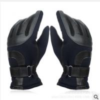 可印logo广告韩版男士加绒加厚手套防雪防水滑雪手套定做