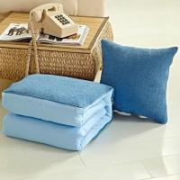 抱枕被子两用办公室汽车沙发靠垫枕头被批发年会礼品定制绣logo
