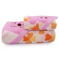 浴巾毛巾套装纯棉加厚四叶草小熊成人男女儿童宝宝情侣吸水大浴巾