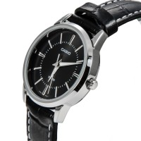 卡西欧 LTP-1303L 简约时尚情侣手表正品防水真皮带女士手表