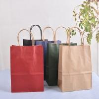 供应高档进口牛皮纸礼品袋 方形服装包装手提袋子厂家定制批发