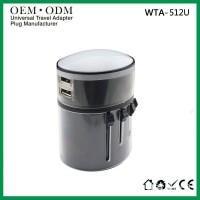 定做插座印LOGO多功能转换插座全球通USB万能转换插头欧美式