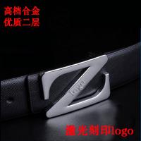 男士礼品皮带定制男式自动扣真皮腰带订制厂家直销带身可印logo