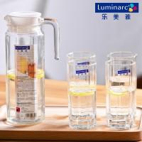 乐美雅透明玻璃杯套装水具凉水杯创意耐热茶杯杯子水壶冷水壶家用
