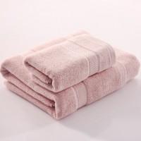 浴巾 纯棉 加厚 1浴巾+1毛巾 纯色 全棉 套巾 男女成人 吸水浴巾