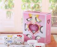 KT猫韩式碗kitty碗  广告礼品碗陶瓷餐具套装