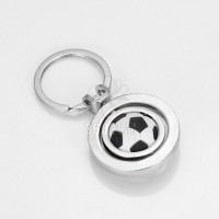 【厂家促销最低价】创意旋转足球钥匙扣世界杯迷你球迷礼品现货批
