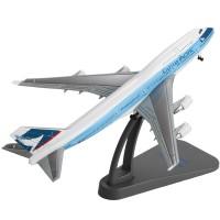 1:400威龙国泰航空波音B747客机模型合金飞机摆件静态金属成品