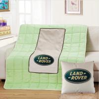 汽车抱枕被子两用靠垫被折叠午休空调被棉麻护腰靠枕头可定做LOGO