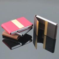 贵气金属不锈钢名片夹 随身男女双开名片盒 公司礼品赠品刻字