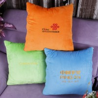 抱枕被定做 订做靠背客厅广告靠垫定制抱枕被子两用绣字logo印字