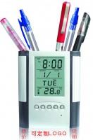 定制             促销特价 创意万年历电子笔筒商务办公用品时尚广告礼品定制LOGO